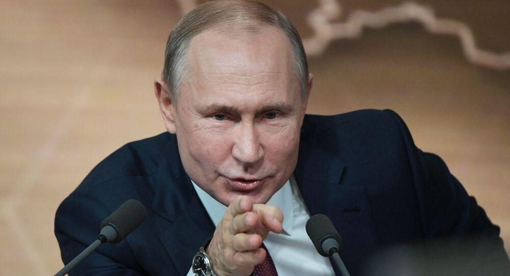 La grande conferenza stampa di fine anno del presidente russo Vladimir Putin, il 19 dicembre 2019