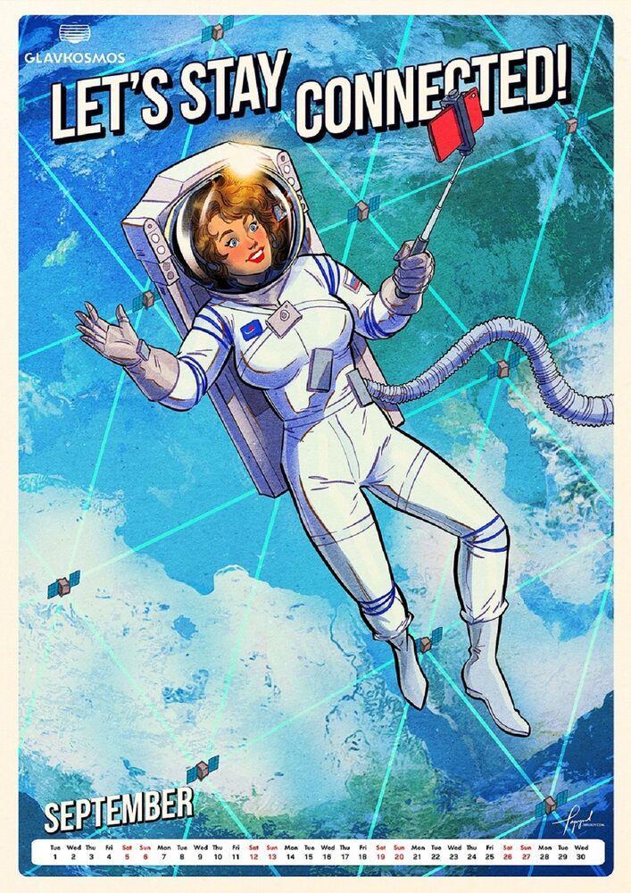 Nuovo calendario del 2020 di Roscosmos Andiamo nello spazio!