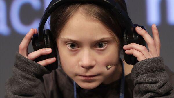 Attivista Greta Thunberg alla conferenza di Madrid Cop25 - Sputnik Italia