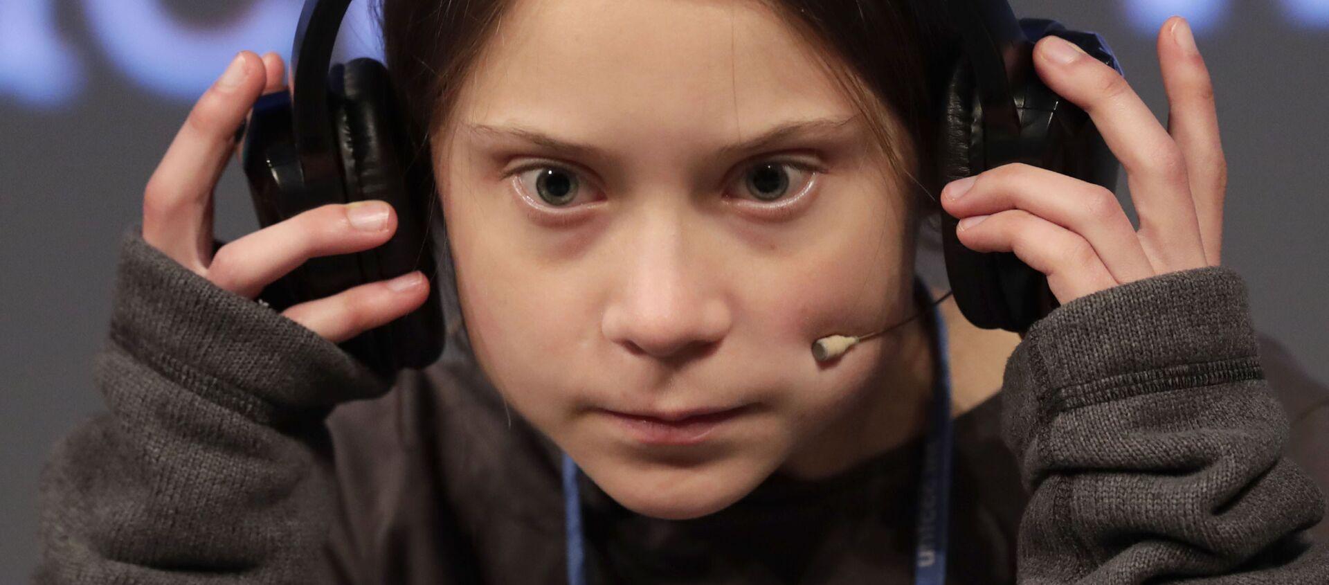 Attivista Greta Thunberg alla conferenza di Madrid Cop25 - Sputnik Italia, 1920, 27.01.2020
