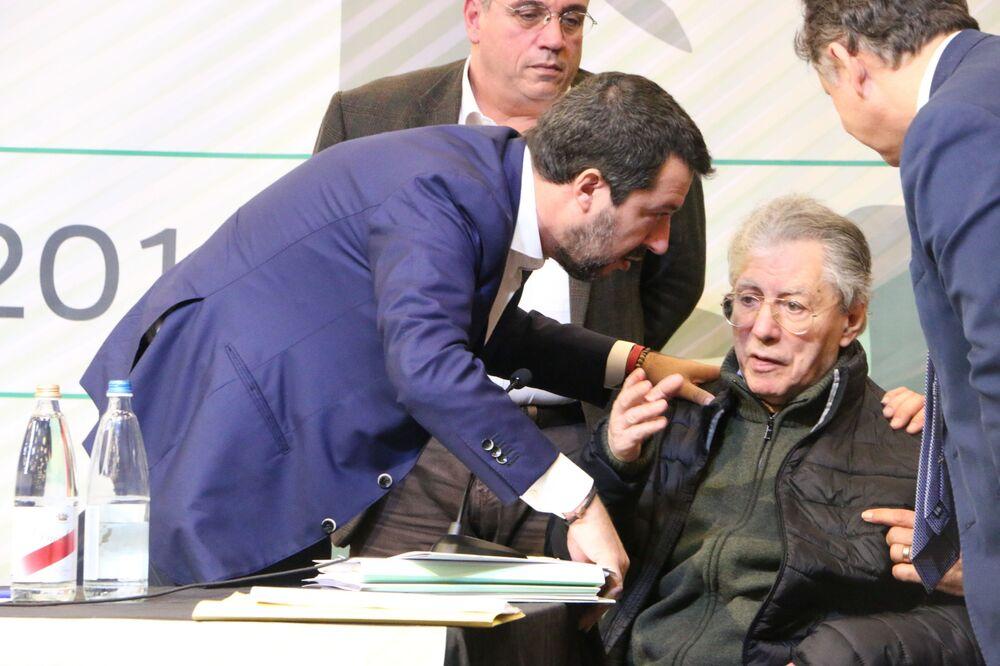 Matteo Salvini e Umberto Bossi al Congresso Federale della Lega