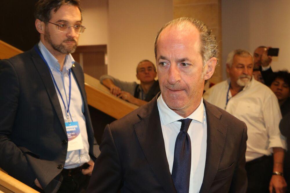 Luca Zaia al Congresso Federale della Lega