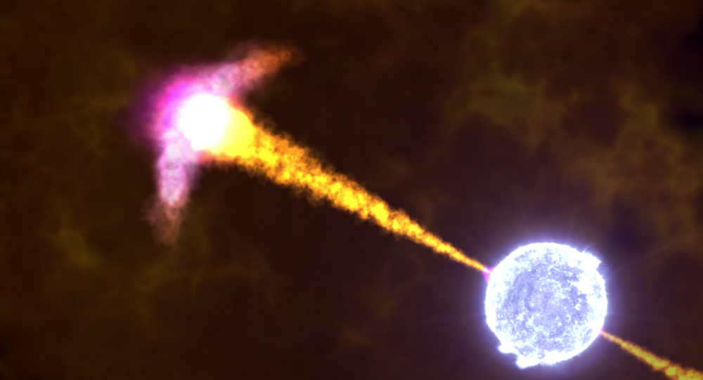 NASA animation of a gamma-ray burst