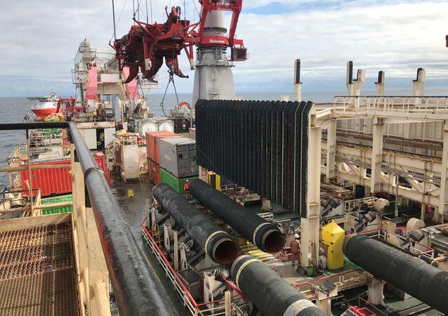 Lavori di costruzione del gasdotto Nord Stream 2