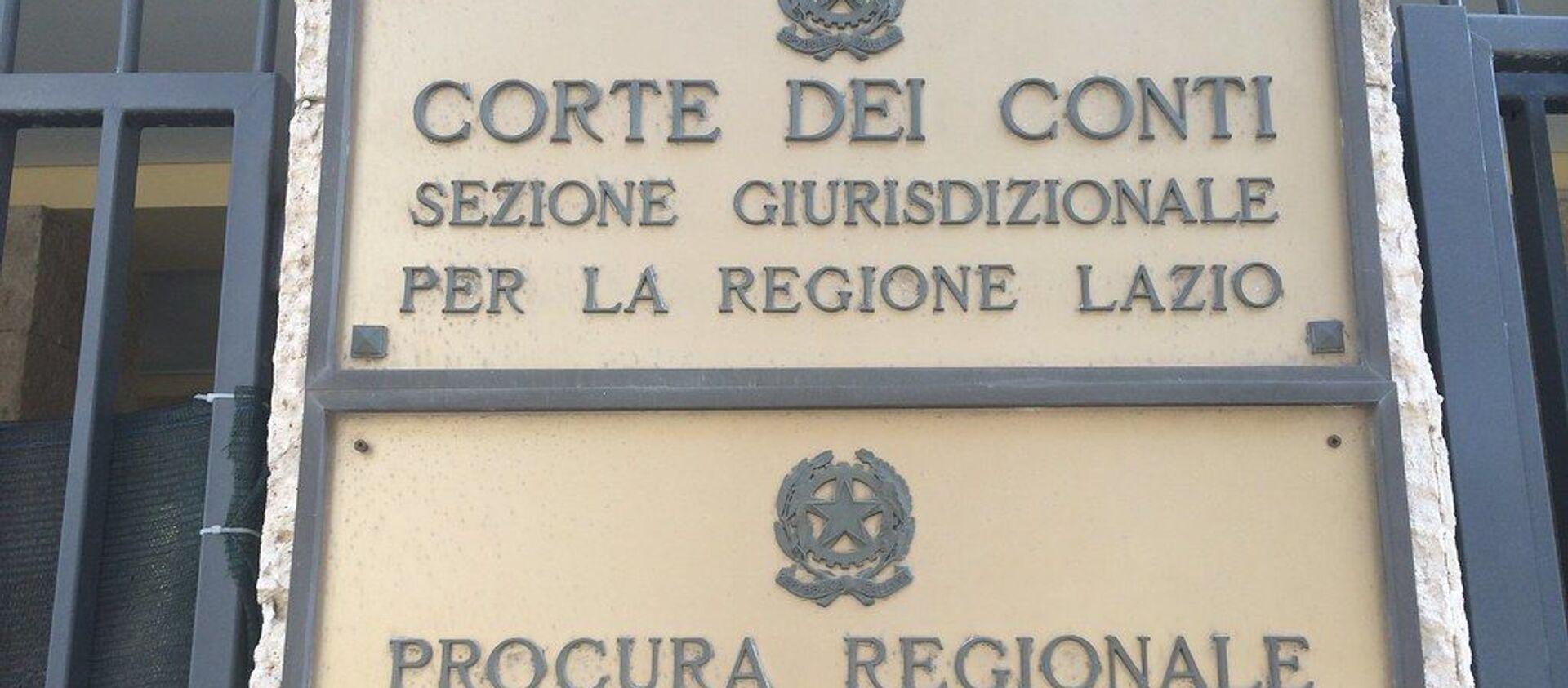 Corte dei Conti Roma e regione Lazio - Sputnik Italia, 1920, 08.02.2021