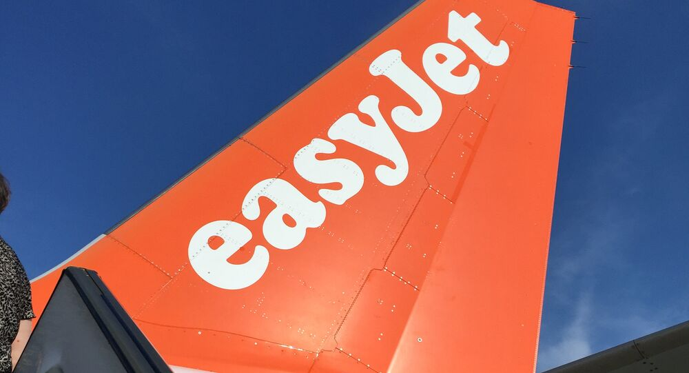 An Airbus in British airline EasyJet livery is pictured on July 3, 2015 on the tarmac at the Lille-Lesquin airport, northern France.