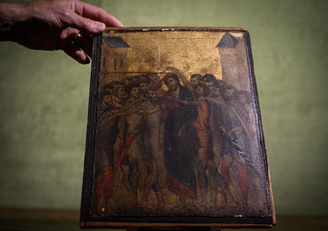 Il quadro di Cimbaue Cristo deriso