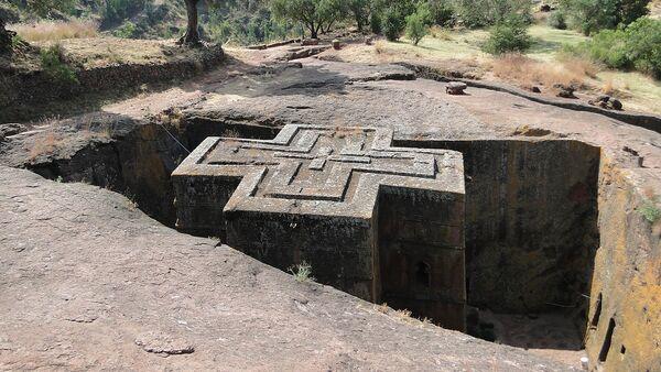Chiesa rupestre di San Giorgia a Lalibela - Etiopia - Sputnik Italia