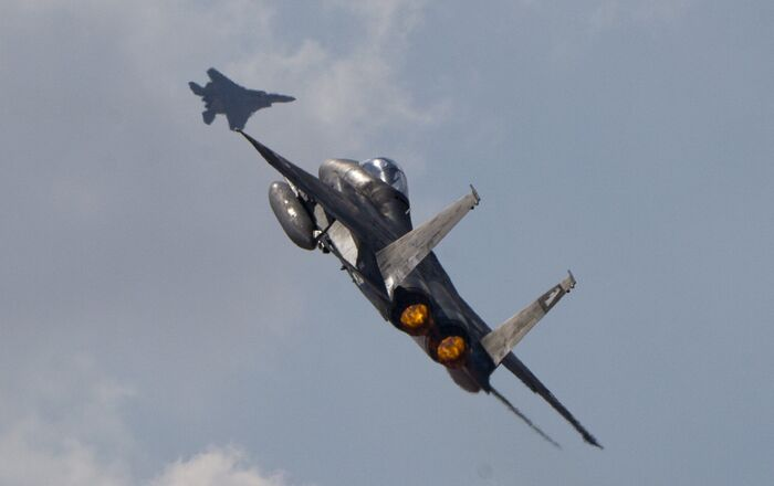 Two Israeli air force F-15s (File)
