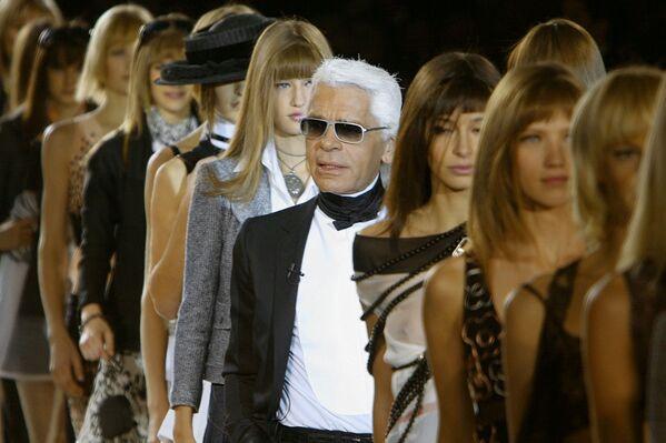 Karl Lagerfeld, stilista e fotografo tedesco, direttore creativo di Fendi e di Chanel, è morto il 19 febbraio 2019 - Sputnik Italia