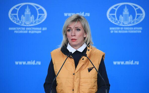 Сonferenza stampa settimanale di Maria Zakharova a sostegno di Sputnik Estonia - Sputnik Italia