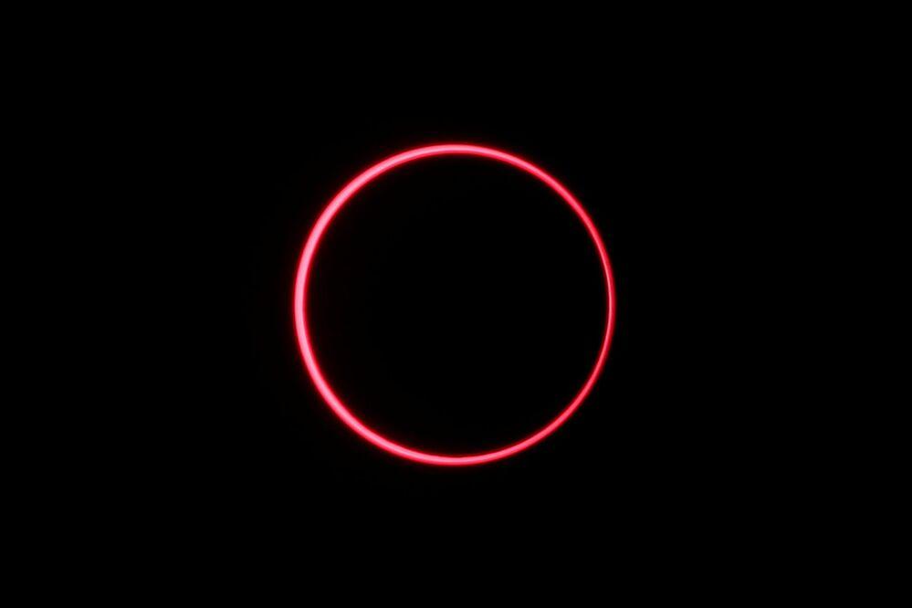 Un'eclissi solare, Indonesia, il 26 dicembre 2019.