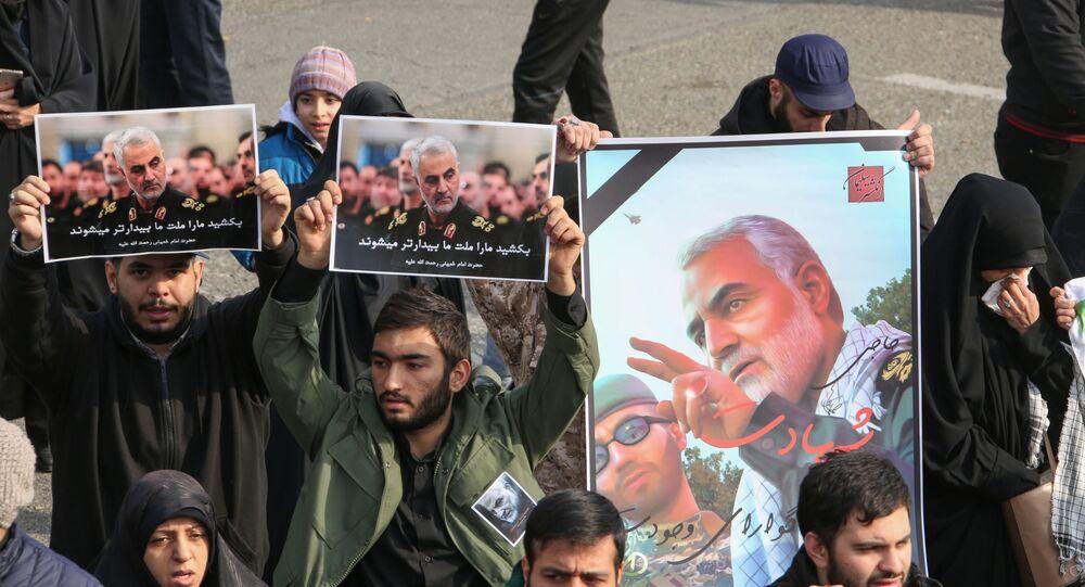 Gli iraniani protestano in risposta all'uccisione di Soleimani