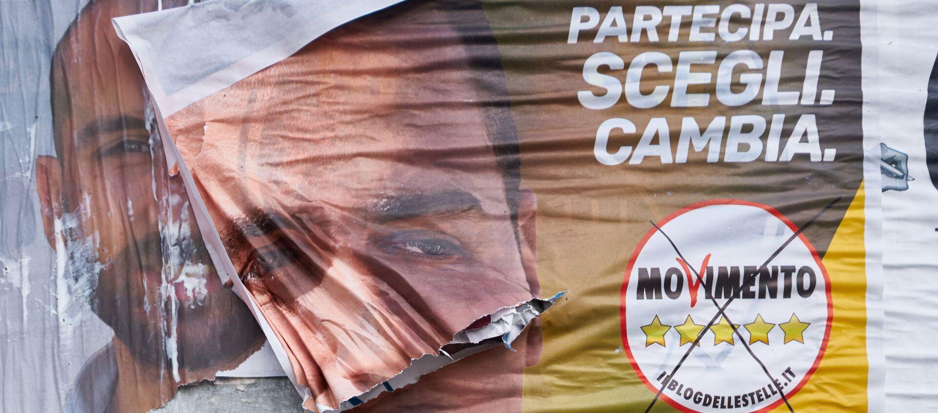 Manifesto elettorale del Movimento 5 stelle - Sputnik Italia, 1920, 08.02.2021