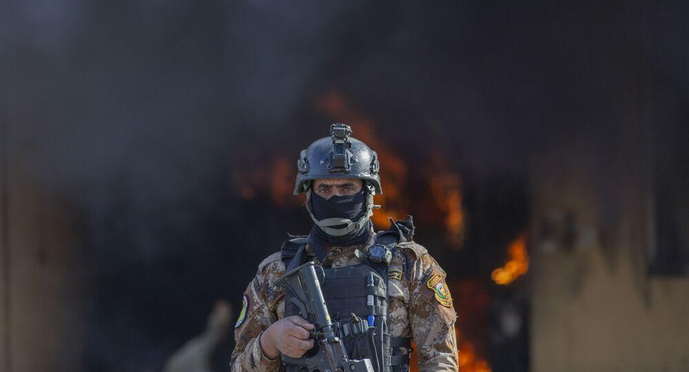 Bombardamento in Iraq (foto d'archivio)