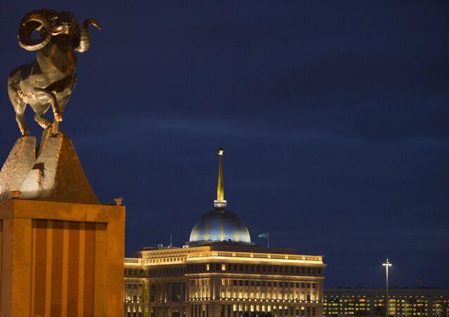 La vista su Astana, Kazakistan