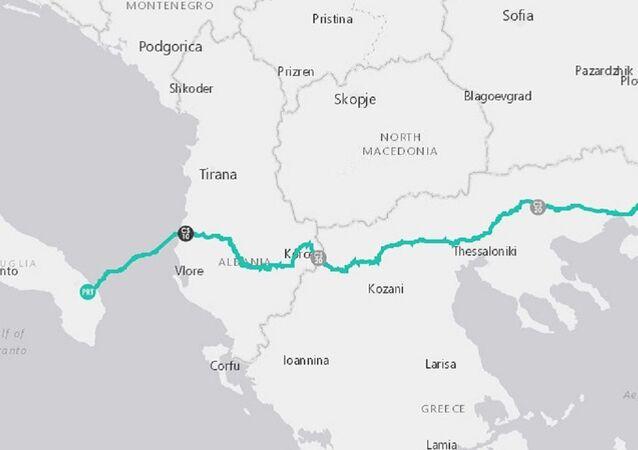 Il percorso del gasdotto TAP