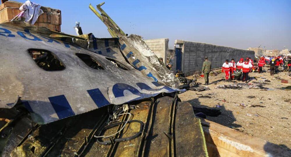L'aereo Boeing 737-800 della Ukraine International Airlines' precipitato in Iran