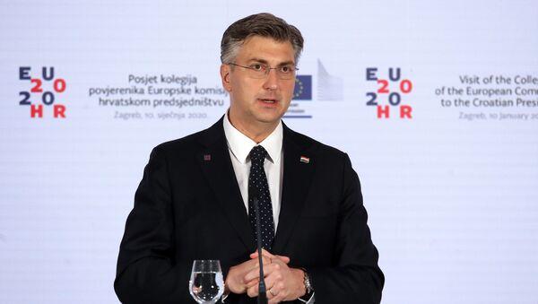 Il premier croato Andrej Plenkovic - Sputnik Italia