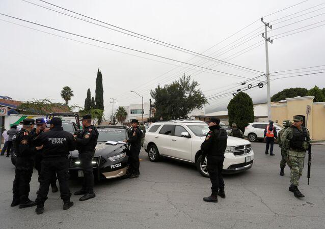 Polizia messicana sul luogo della sparatoria (archivio)