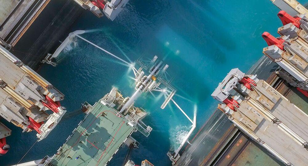 La posa del gasdotto Turk stream vista da un drone