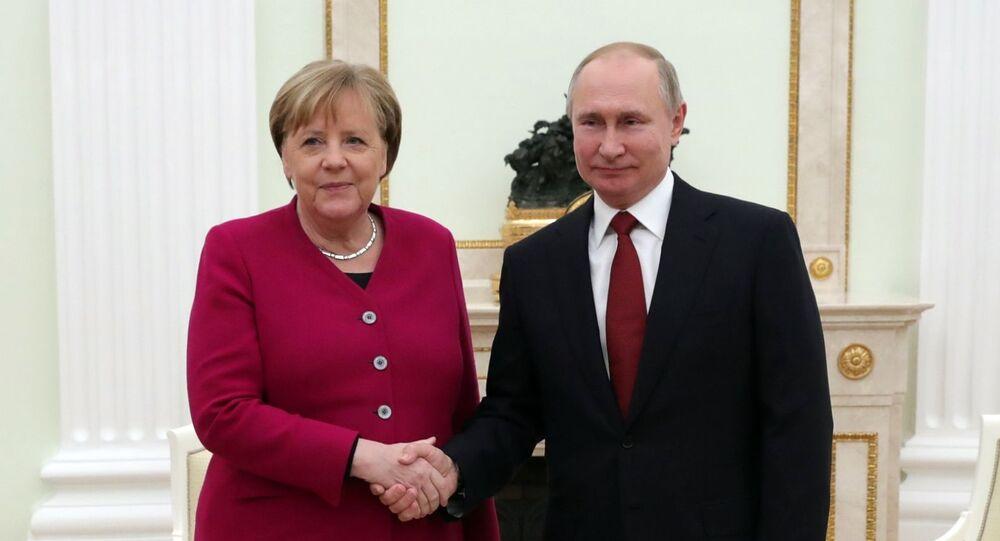 Angela Merkel e Vladimir Putin