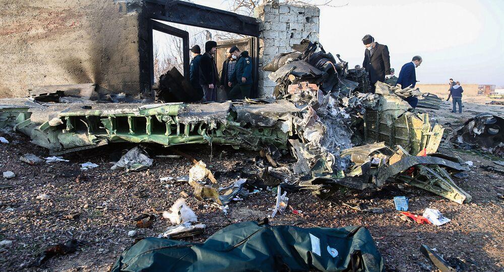 Il luogo dello schianto del Boeing ucraino nei pressi di Teheran