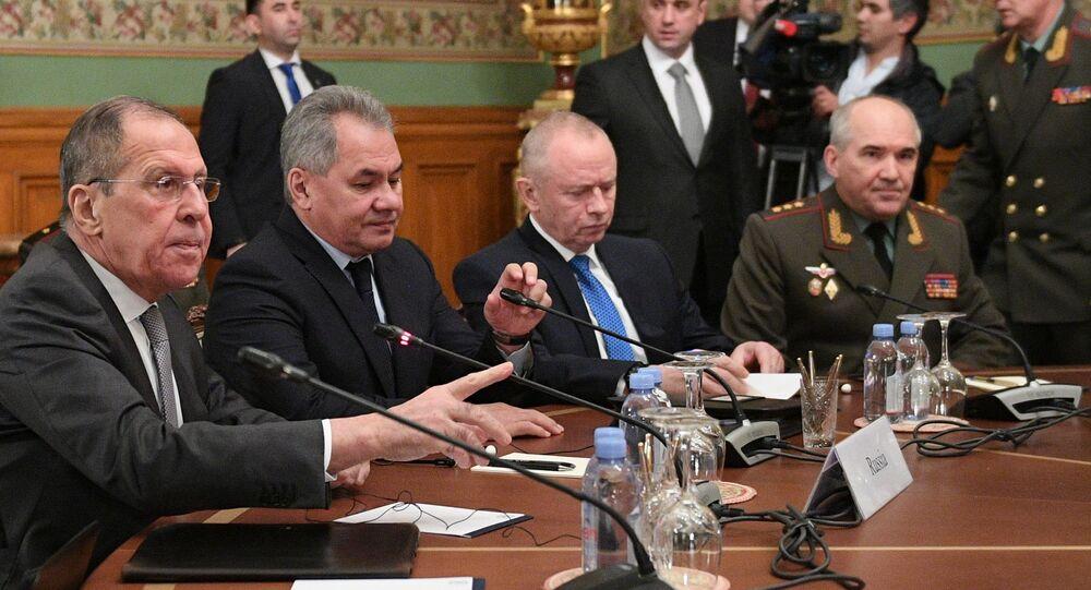 Incontro tra i ministri degli Esteri e della Difesa della Russia e della Turchia