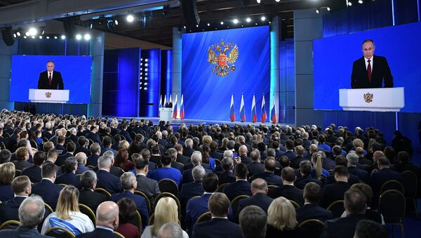 Il discorso del presidente Putin di fronte all'Assemblea Federale 2020 - Sputnik Italia