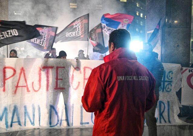 La manifestazione dell'Associazione Una voce nel silenzio