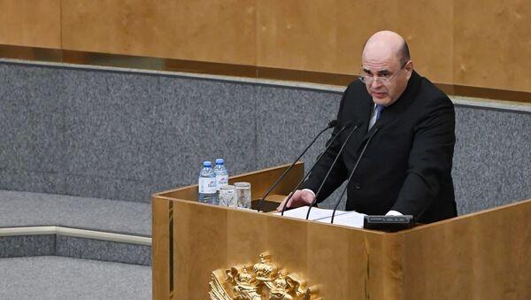 Mikhail Mishustin alla Duma di stato russa - Sputnik Italia