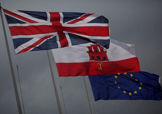 Bandiere di Gran Bretagna, Gibilterra ed UE