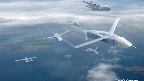 An artist's concept of DARPA's gremlin drones. - Sputnik Italia