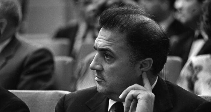 Il grande regista italiano Federico Fellini