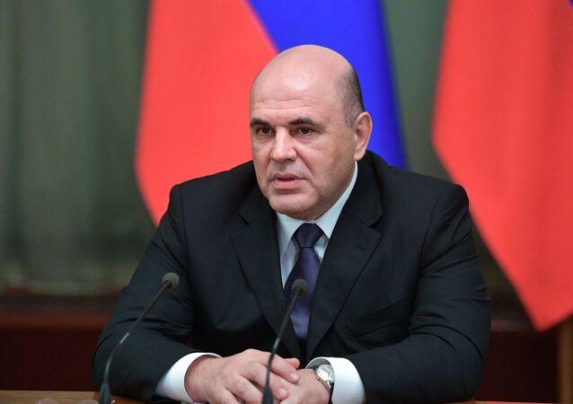 Il primo ministro russo Mikhail Mishustin