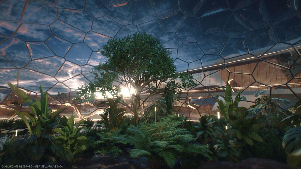 Il progetto della Stazione sperimentale bio-rigenerativa (EBIOS), progettata per vivere su Marte