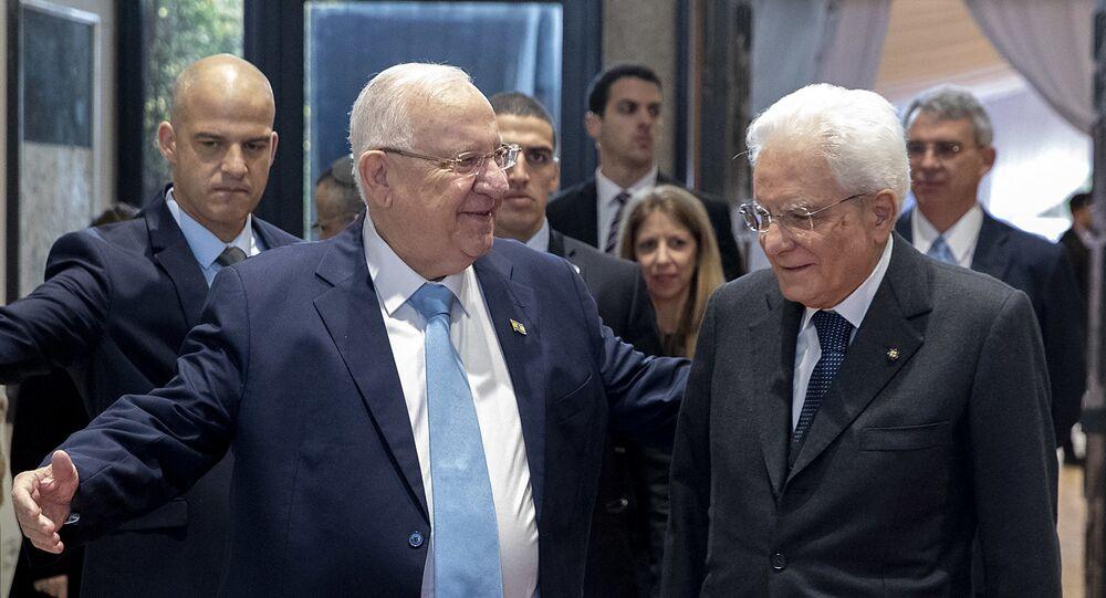 Gerusalemme - Il Presidente della Repubblica Sergio Mattarella con il Presidente dello Stato di Israele Reuven Rivlin, oggi 23 gennaio 2020