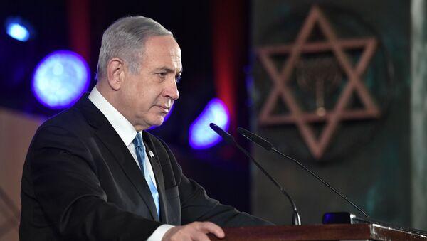 Il primo ministro di Israele Benjamin Netanyahu a Gerusalemme per il Forum sull'Olocausto, 23 gennaio 2020 - Sputnik Italia