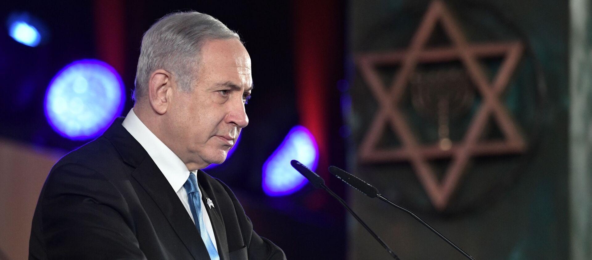 Il primo ministro di Israele Benjamin Netanyahu a Gerusalemme per il Forum sull'Olocausto, 23 gennaio 2020 - Sputnik Italia, 1920, 12.04.2021