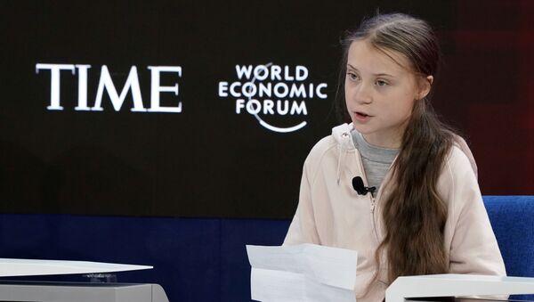 Greta Thunberg al 50esimo World Economic Forum - Sputnik Italia