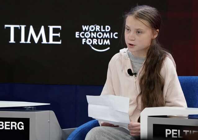 Greta Thunberg al 50esimo World Economic Forum