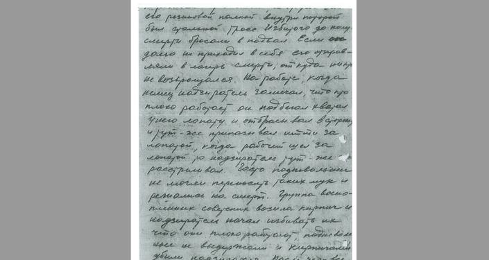 Rapporto al direttore del Dipartimento politico della 100esima divisione di Leopoli