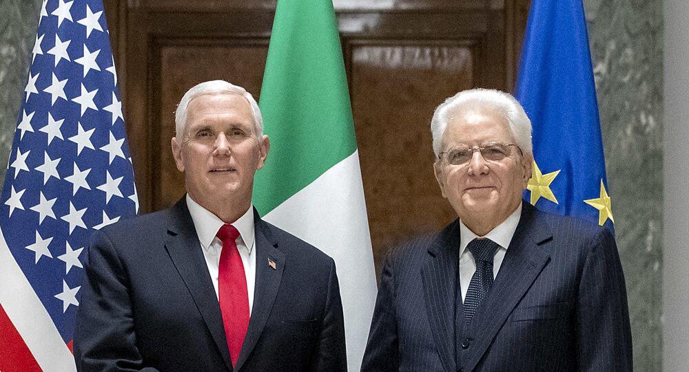 Il Presidente Sergio Mattarella con il Vice Presidente degli Stati Uniti d'America, S.E. Michael R. Pence
