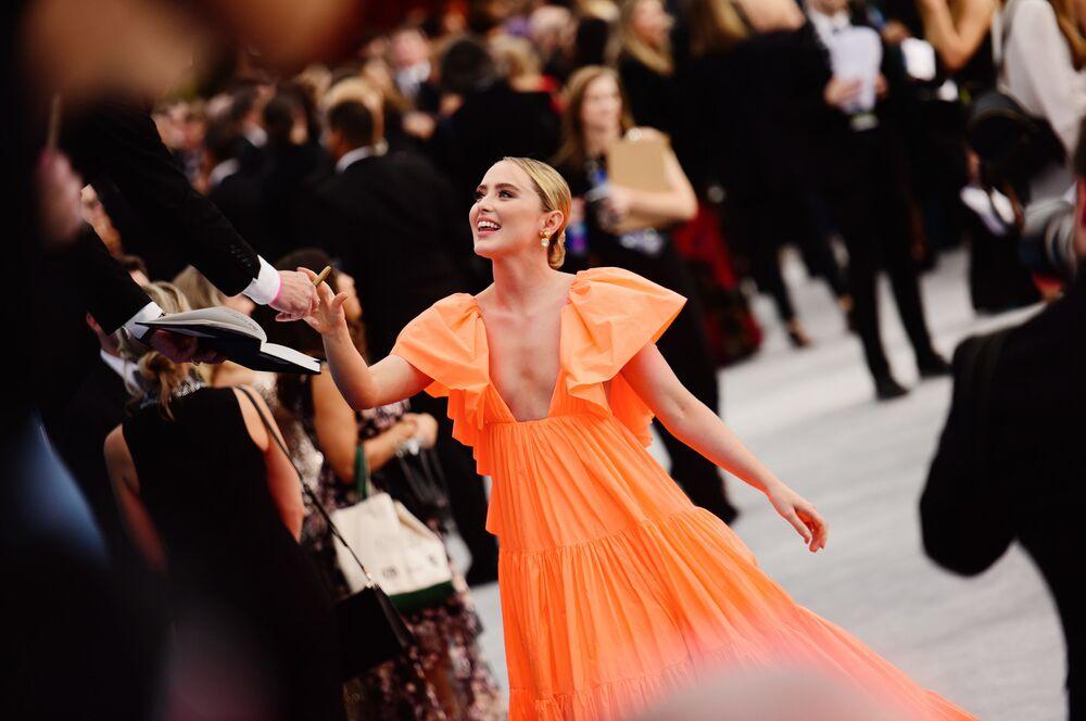 L'attrice Kathryn Newton alla cerimonia Screen Actors Guild Awards di Los Angeles.