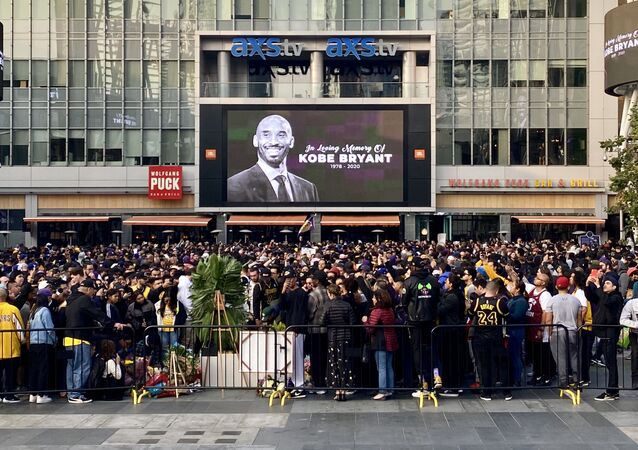 Il memoriale in onore di Kobe Bryant