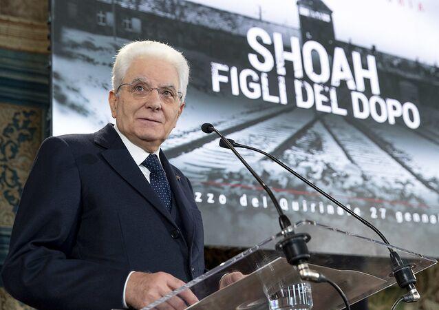 """Il Presidente Sergio Mattarella nel corso della celebrazione del """"Giorno della Memoria"""""""