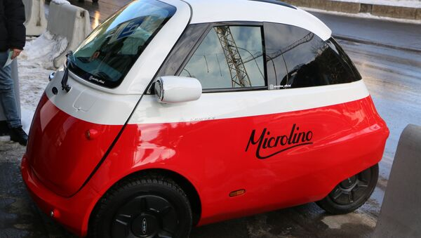 Un auto ecologico a Davos - Sputnik Italia