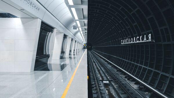 La nuova stazione della metropolitana di Mosca, realizzata in uno stile futuristico, fotografata da Alexandr Bormotin per il concorso The Art of Building, Russia - Sputnik Italia