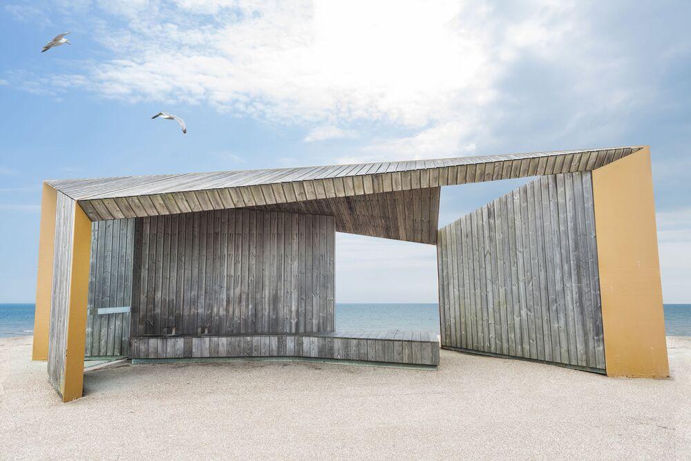 Bexhill Promenade Shelter del fotografo inglese Adam Regan