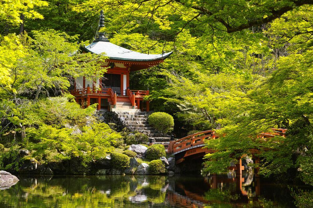 Il Daigo-ji, tempio del Buddhismo, situato nell'area Fushimi di Kyoto, Giappone